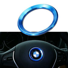 Aluminum Alloy Blue  Steering Wheel Circle Ring Cover Sticker Trim For all Car