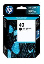 HP 40 HP 51640A Negro De Cartucho De Inyección De Tinta Original en Caja 2017 HP 51640AE 42ML Tinta