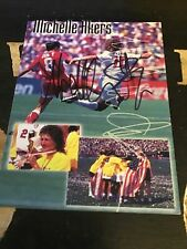 """New listing Michelle Akers  Signed  Colored Card 61/2"""" By 5"""" Beautiful"""