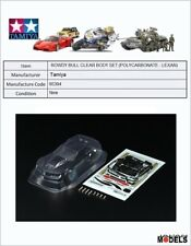 Mini 4wd ROWDY BULL CLEAR BODY SET (POLYCARBONATE - LEXAN) Tamiya 95394 New