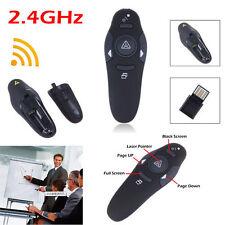 Wireless USB PPT Presenter &Remote Control Presentation Laser Pointer Pen 2.4GHz
