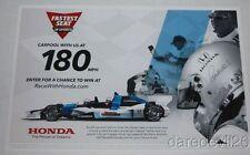 2016 Mario Andretti Fastest Seat In Sports Honda Dallara Indy Car postcard
