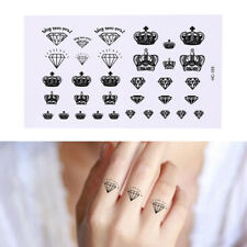 Diamonds and Crowns Temporary Tattoos Body Arm Leg Waterproof Tattoo Stickers HT