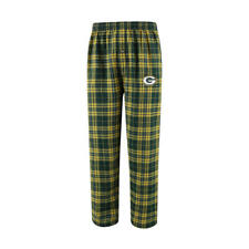 Green Bay Packers NFL Men's Plaid Flannel Pajama Lounge Bottoms, Size Small, NWT