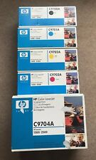 HP C9700A/C9701A/C9702A/C9703A/C9704A Toner Bundle/Job Lot Boxed Sealed.