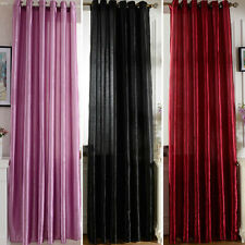 Luxury Blackout Curtains Window Solid Curtain Blinds Drapes Living Room Bedroom
