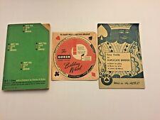 1967 BRIDGE CARD GAME items. 3 piece lot. S.J. Simon's book, a BIDDING WHEEL +