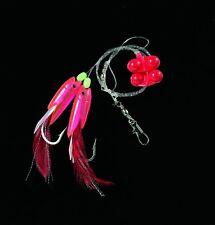 DEGA Dorsch-Vorfach mit Rattle-Beads Hg.6/0 rot/pink