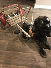 Antique Mobo Horse And Carriage Pedal Car English Buggy