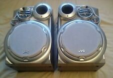 JVC SP-MXKA3 Silver Compact Component Boom Box System Speakers (Left Right) only