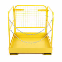 """36""""x36"""" 749 lbs Capacity Forklift Safety Cage Steel Work Platform  Heavy Duty"""