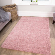 Baby Pink Shaggy Rug Soft Warm Thick Non Shed Cosy Plain Living Room Shaggy Rugs