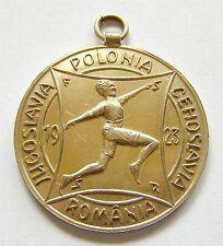h332 Romania Czechoslovakia Poland Yugoslavia 1923 Timisoara sport silver gilt