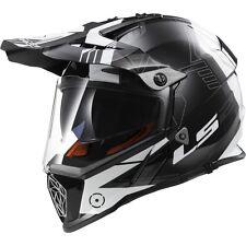 LS2 Helmets - MX436 -Pioneer-TRIGGER Black Titanium -Dual Visor Motocross Helmet