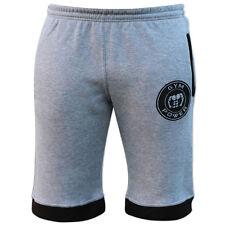 Pantaloncini da uomo grigio per palestra, fitness, corsa e yoga taglia L