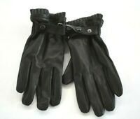 Stewart of Scotland Mens Genuine Leather Black Lined Gloves $75 XL