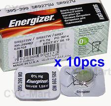 10 pedazo x Energizer 395 SR927SW Óxido de plata Pilas GRATIS POSTE Made in USA