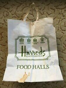 Vintage Large Harrods Paper Shopping Bag - Food Halls
