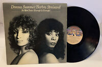 """No More Tears Enough is Enough 12"""" Single Record Barbra Streisand & Donna Summer"""