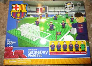 FC BARCELONA TEAM Buildable GAMEDAY FIELD SET SOCCER FUTBOL BARCA INIESTA