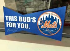 Budweiser Bud Light New York Ny Mets Baseball Jersey Nike Tshirt Metal Tin Sign