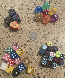 Dungeons & Dragons Assorted Dice Lot DIFFERENT SIZES
