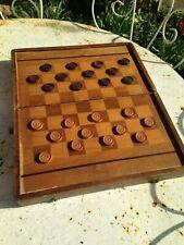 Ancien coffret   jeu de Jacquet - BACKGAMMON dames en bois vintage