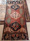 """Antique hand knotted rug Turkmen Kazak region 38"""" x 73"""" Excel Condition / Clean"""