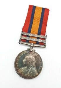 BRITISH ARMY QUEENS SOUTH AFRICA MEDAL - PTE H. T. WATTS - ASC