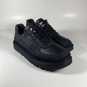 UGG Highland Sport Hiker Low Leather Shoes Black Men's Size 12 *NEW* 1112382