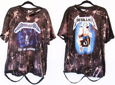 Metallica Licensed bleached distressed t shirt S-2XL Ride the Lightning