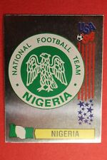 PANINI STICKERS USA 94 WORLD CUP N. 235 BADGE NIGERIA NEW BACK VERY GOOD!