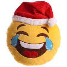 Puckator Christmas LOL Emoti Emoticon Plush Cushion 27cm Xmas Fun Novelty New
