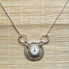 steampunk punk rock gothic pendant necklace watch parts metal gear men women diy