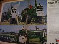 VINTAGE OLIVER CORP ADVERTISING PAGES -1650  1850  1950 TRACTORS -3 NEW OLIVERS