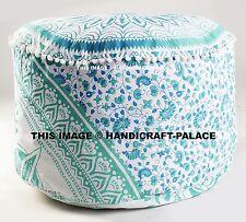 "Green Ombre Mandala Round Indian Pouf Ottoman Foot Stool Floor Pillow pouffe 24"""
