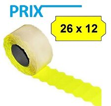 54.000 x Prix Price Tags for Kavir SAMARK 26 26x12mm Yellow Permanent 36 Casters