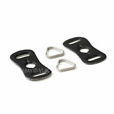 Stainless steel chrome camera strap triangle rings hooks D ring with shim pad