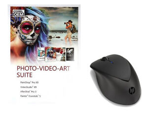 Corel Photo-Video-Art Suite Digital Download + HP X4000b Wireless Mouse Bundle