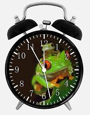 """Cute Green Frog Alarm Desk Clock 3.75"""" Room Decor X22 Nice for Gifts wake up"""