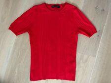 Schöne Damen rot Ripp Strick Top von Marks & Spencer, Größe 8, super Zustand