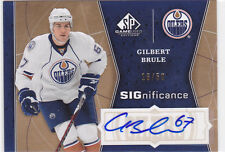2009 09-10 SP Game Used SIGnificance #SIGGB Gilbert Brule 16/50 autograph