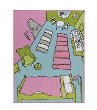 IKEA RUMMET Childrens Rug Low Pile Kids Multicolour Mat Runner Carpet/Brand New