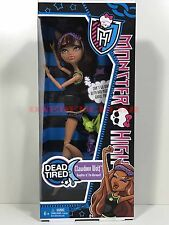 Monster High Doll Dead Tired Clawdeen Wolf New in Box Retired