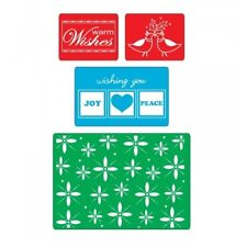 Sizzix Winter Embossing Folders - Christmas, Turtle Doves, Warm Wishes
