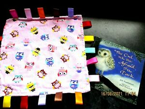 Taggy Blanket Baby Sensory Owls Comforter + The Owl who was afraid of the Dark