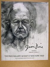 1990 Jim Dine 'Drawings' art Pace Gallery nyc vintage print Ad