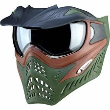 V-Force Grill Thermal Paintball Mask - Brown on Green - NEW