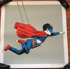 Dreamer Urban Art Print Karl Read Bottleneck Gallery NYC Superman Superboy