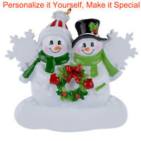 MAXORA Personalized Christmas Tree Ornament Snowman Family of 2 3 4 5  2018